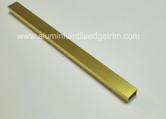 China Glänzende Gold-Listello-Fliesen-Ordnungs-materielle AluminiumZierleiste 15mm x 10mm fournisseur