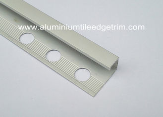 China Aluminium- Kasten-Abschnitt-Satin-Silber Matt der Metall-Chrome-Quadrat-Rand-Fliesen-Ordnungs-10mm fournisseur