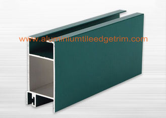 Powder Coating Aluminium Window Profiles Section For Commercial / Apartment Building