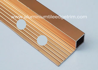 China Bright Polished Copper Aluminium Square Edge Tile Trim 10mm x 2m Length fournisseur