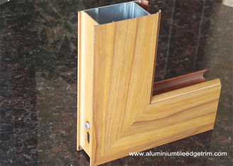 Aluminium Side - hinged Door Extrusion Profile Wood Grain Effect