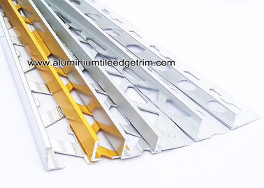 Pre Polished Bright Chrome L Angle Aluminium Tile Edge Trim 6mm / 8mm / 10mm  / 12mm